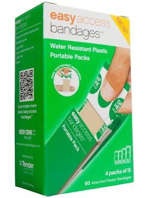 Easy Access Bandages® Plastic Assorted, 60 Count