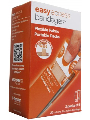 "Easy Access Bandages® Fabric, 1"" x 3"" Strips, 30 Count"