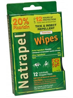 Natrapel® 12-hour Wipes 12/box